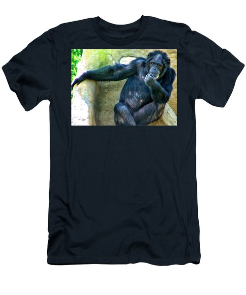 Men's T-Shirt (Slim Fit) featuring the photograph Chimp 1 by Dawn Eshelman