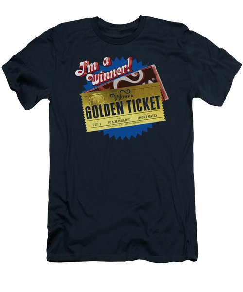 Chocolate Factory - Golden Ticket Men's T-Shirt (Athletic Fit)