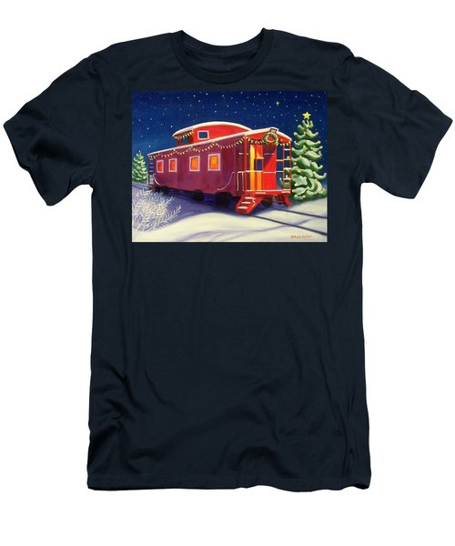 Christmas Caboose Men's T-Shirt (Athletic Fit)