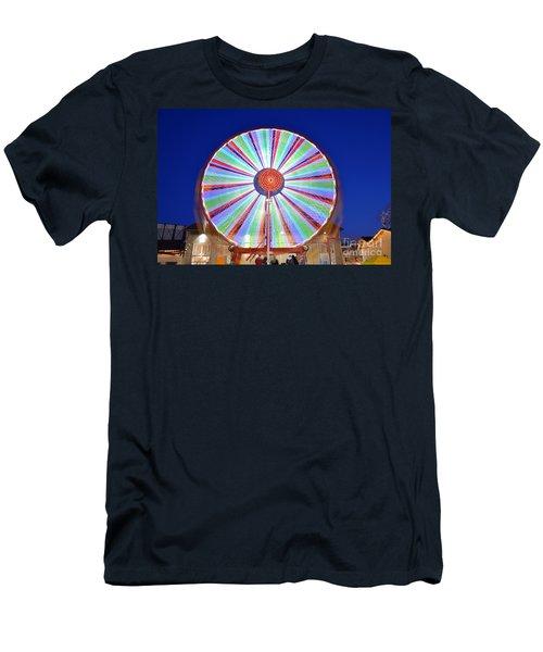 Christmas Ferris Wheel Men's T-Shirt (Slim Fit) by George Atsametakis