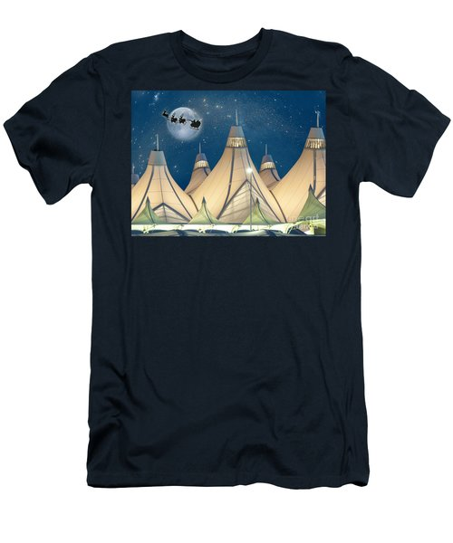 Christmas Night At Denver International Airport Men's T-Shirt (Athletic Fit)