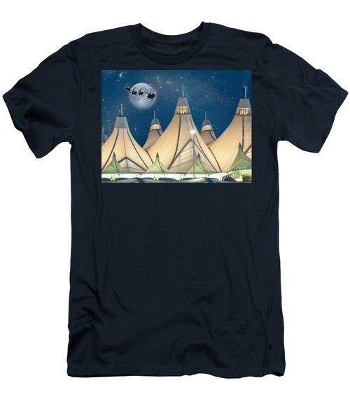Christmas Night At Denver International Airport Men's T-Shirt (Athletic Fit)