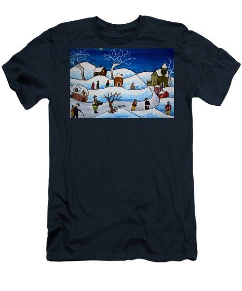 Christmas Night Men's T-Shirt (Slim Fit) by Loredana Messina