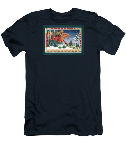 Christmas Ride Men's T-Shirt (Athletic Fit)