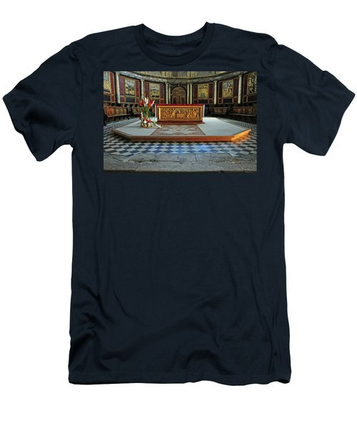 Men's T-Shirt (Slim Fit) featuring the photograph Church Alter Provence France by Dave Mills