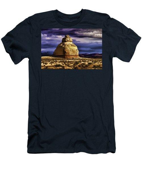 Men's T-Shirt (Slim Fit) featuring the painting Church Rock  by Muhie Kanawati