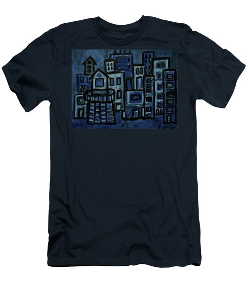 City At Night Men's T-Shirt (Slim Fit)