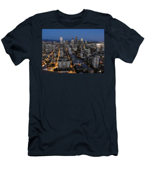 Men's T-Shirt (Slim Fit) featuring the photograph City Lights by Natalie Ortiz
