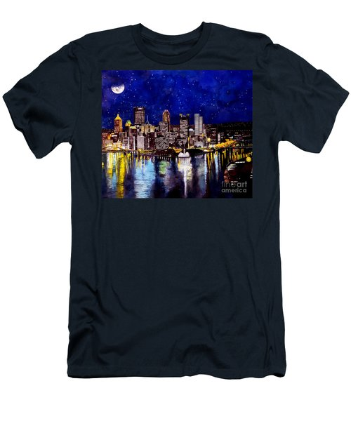 City Of Pittsburgh At The Point Men's T-Shirt (Athletic Fit)