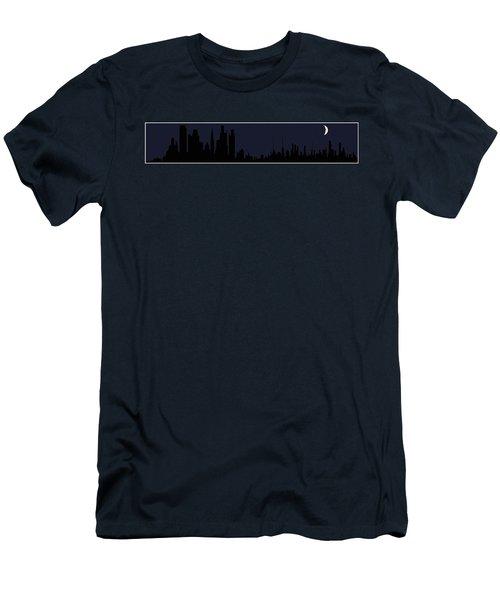 Men's T-Shirt (Slim Fit) featuring the digital art City Skyline... by Tim Fillingim