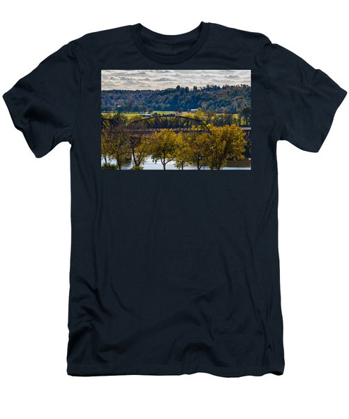 Clarksville Railroad Bridge Men's T-Shirt (Athletic Fit)