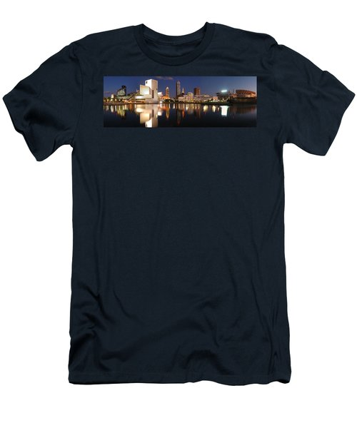 Cleveland Skyline At Dusk Men's T-Shirt (Athletic Fit)