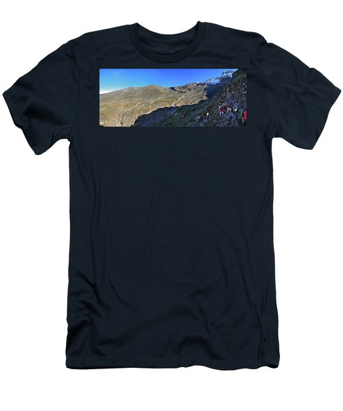 Climbing Group On The Barranco Wall Men's T-Shirt (Athletic Fit)