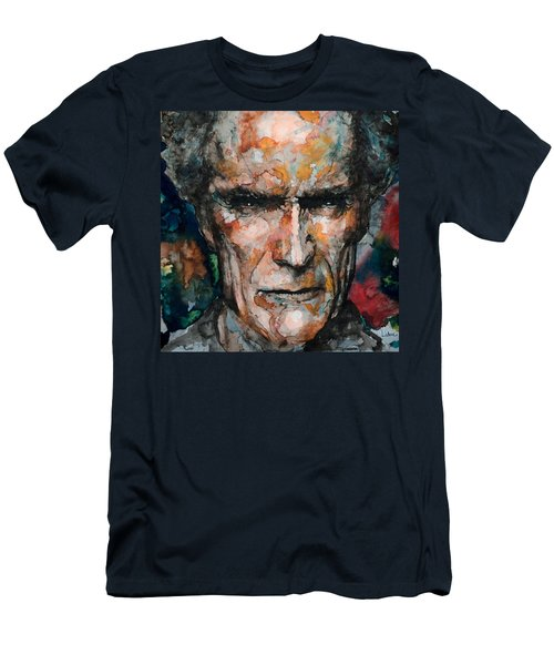 Clint Eastwood Men's T-Shirt (Slim Fit) by Laur Iduc