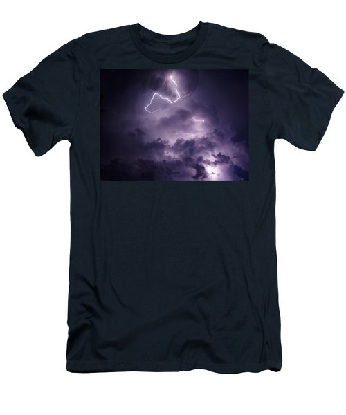 Cloud Lightning Men's T-Shirt (Athletic Fit)