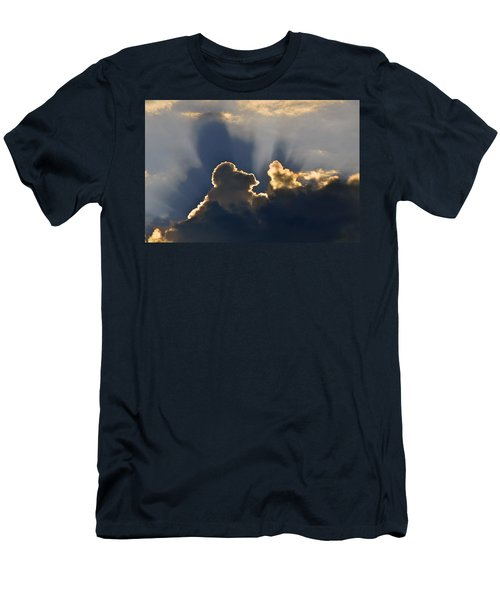 Men's T-Shirt (Slim Fit) featuring the photograph Cloud Shadows by Charlotte Schafer