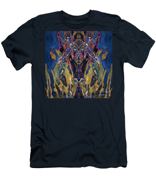 Color Abstraction Xxi Men's T-Shirt (Slim Fit) by David Gordon