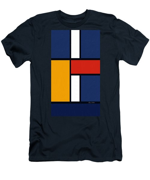 Color Squares - Mondrian Inspired Men's T-Shirt (Athletic Fit)