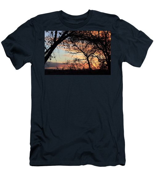 Color Through The Trees Men's T-Shirt (Athletic Fit)
