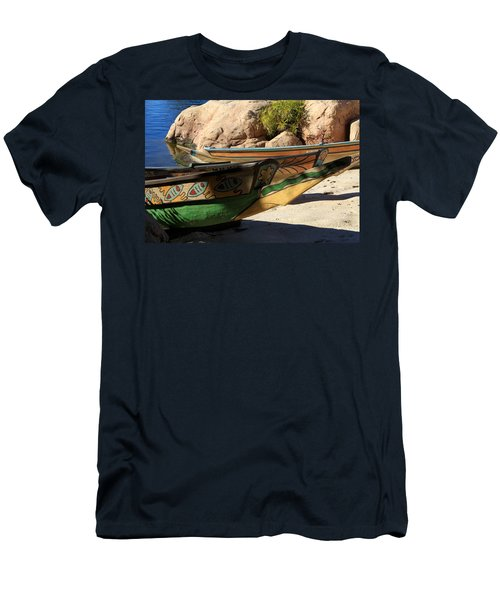 Men's T-Shirt (Slim Fit) featuring the photograph Colorul Canoe by Chris Thomas