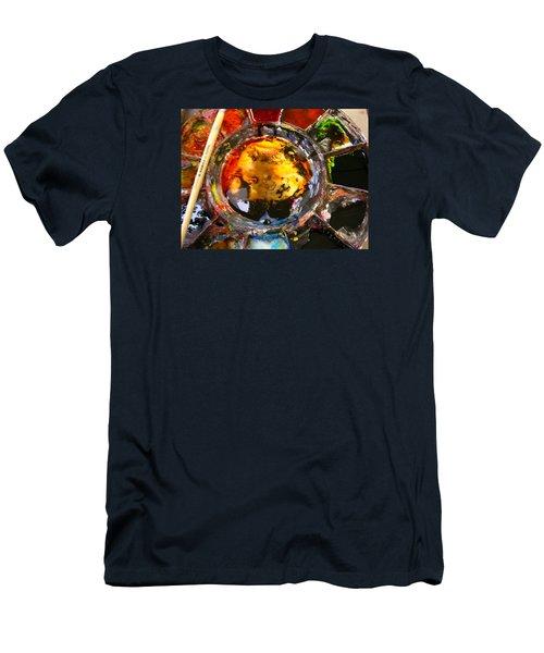 Colours On My Palette Men's T-Shirt (Athletic Fit)