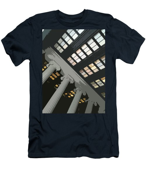 Columns Men's T-Shirt (Slim Fit) by Julio Lopez