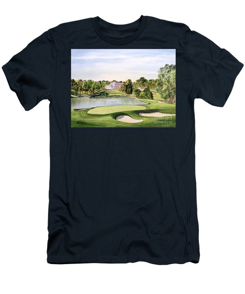 Congressional Golf Course 10th Hole Men's T-Shirt (Slim Fit) by Bill Holkham