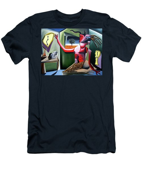 Men's T-Shirt (Athletic Fit) featuring the painting Contemplifluxuation by Ryan Demaree