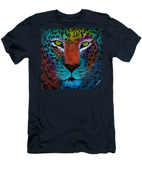 Content Leopard Men's T-Shirt (Athletic Fit)