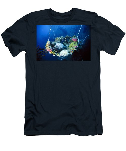Corals On Ship Wreck Men's T-Shirt (Athletic Fit)