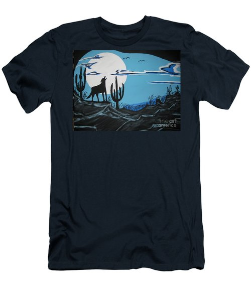 Men's T-Shirt (Slim Fit) featuring the painting Coyote by Jeffrey Koss