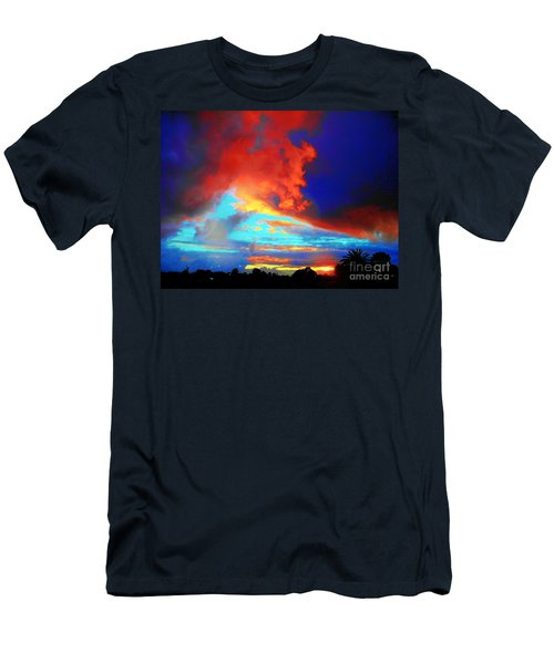 Men's T-Shirt (Slim Fit) featuring the photograph Strange Sunset by Mark Blauhoefer