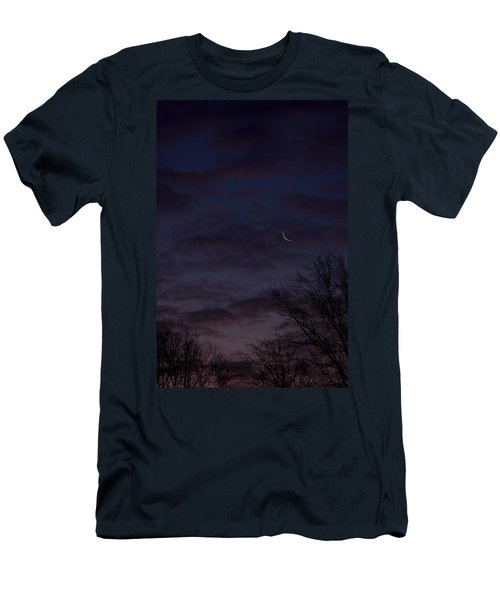 Crescent Moon And Venus Rising Men's T-Shirt (Athletic Fit)