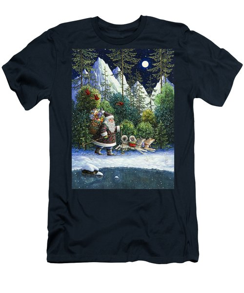 Cross-country Santa Men's T-Shirt (Athletic Fit)