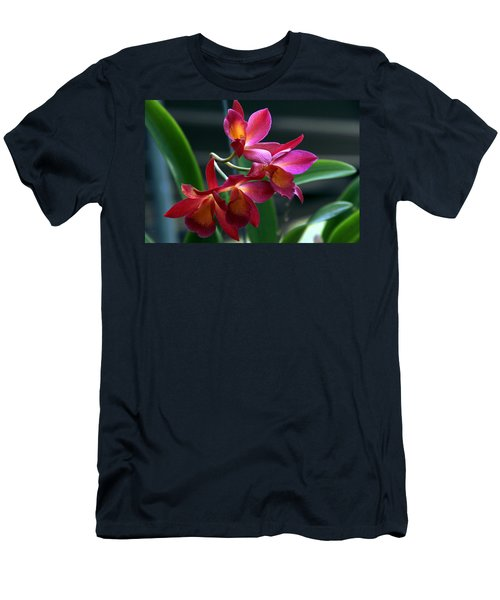 Men's T-Shirt (Slim Fit) featuring the photograph Ctna New River Orchid by Greg Allore