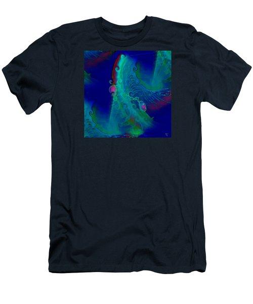Cursive Men's T-Shirt (Slim Fit) by  Fli Art