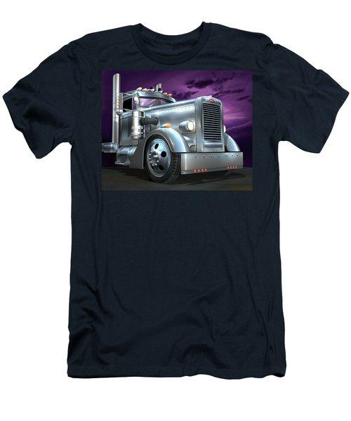 Custom Peterbilt Silver Ghost Men's T-Shirt (Slim Fit) by Stuart Swartz