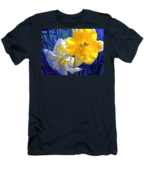 Men's T-Shirt (Slim Fit) featuring the photograph Daffodils 1 by Pamela Cooper
