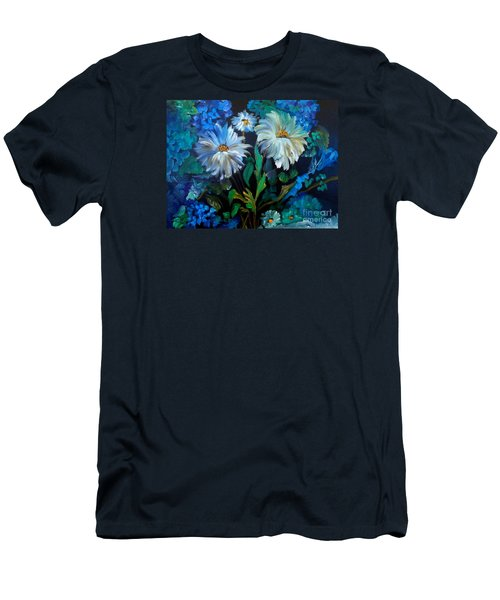 Daisies At Midnight Men's T-Shirt (Athletic Fit)