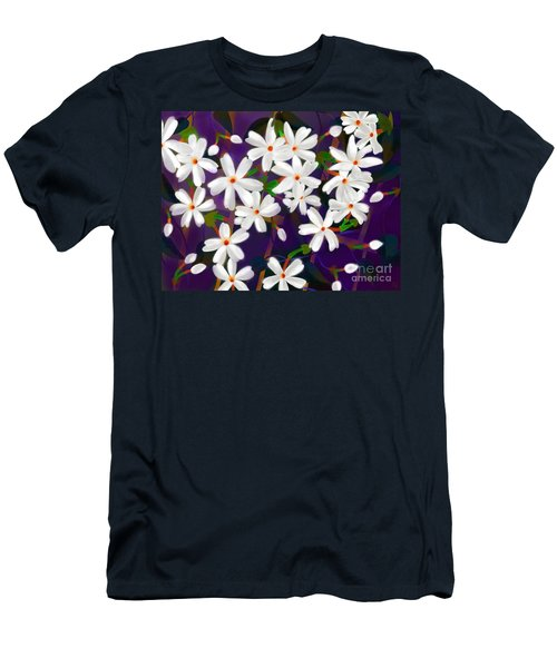 Dancing Coral Jasmines Men's T-Shirt (Slim Fit) by Latha Gokuldas Panicker