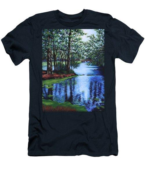 Men's T-Shirt (Slim Fit) featuring the painting Dancing Waters by Penny Birch-Williams
