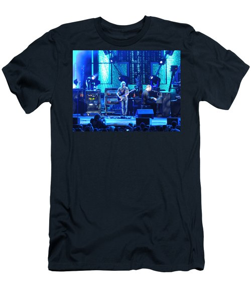 Men's T-Shirt (Slim Fit) featuring the photograph Dave And Tim Playing Out Of My Hands by Aaron Martens