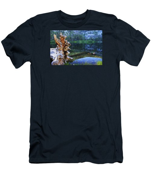 Men's T-Shirt (Slim Fit) featuring the photograph Dawn Arrives At Eagle Lake by Sean Sarsfield