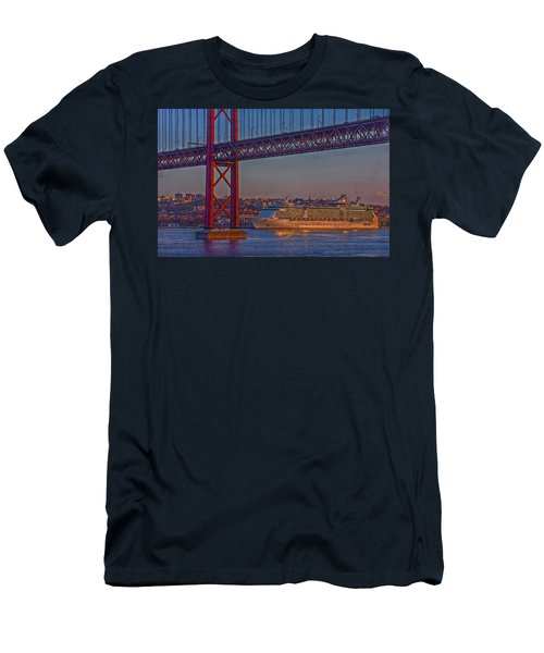 Dawn On The Harbor Men's T-Shirt (Slim Fit) by Hanny Heim