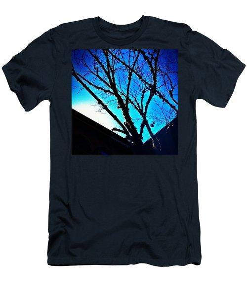Dead Tree Limbs Against A Blue Sky Men's T-Shirt (Athletic Fit)