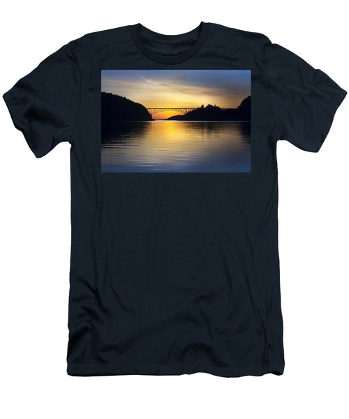 Deception Pass Bridge Men's T-Shirt (Slim Fit) by Sonya Lang