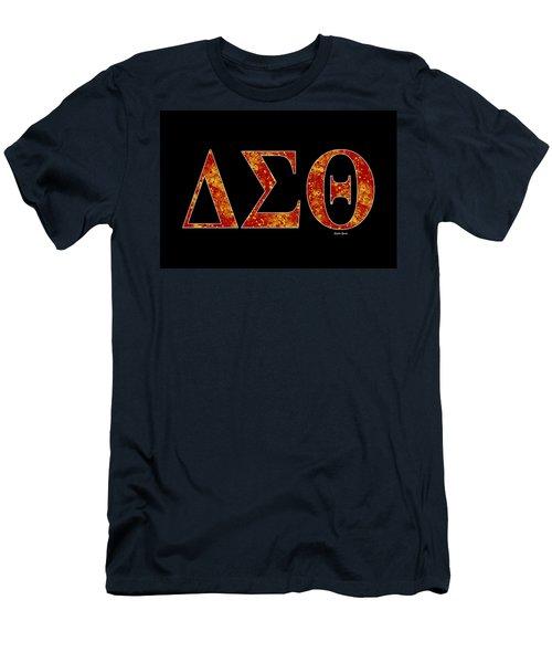 Delta Sigma Theta - Black Men's T-Shirt (Slim Fit) by Stephen Younts