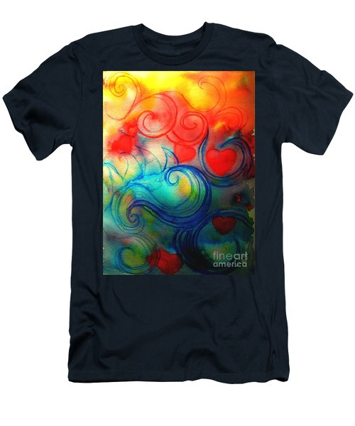 Men's T-Shirt (Slim Fit) featuring the painting Depths Of His Love by Hazel Holland
