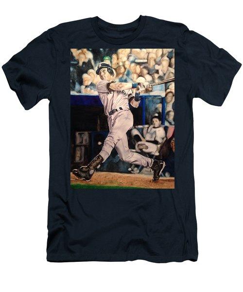 Derek Jeter Men's T-Shirt (Slim Fit) by Lance Gebhardt