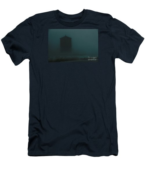 Men's T-Shirt (Athletic Fit) featuring the photograph Desolate Journey by Linda Shafer